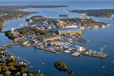 The Portsmouth Naval Shipyard in Maine is one of several military sites at risk from sea level rise, at new report warns. Credit: U.S. Navy