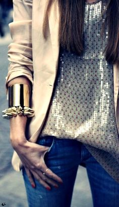 <3 metallic with edgy touch of jewelry