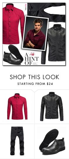 """""""Newchic (29/V)"""" by dorinela-hamamci on Polyvore featuring men's fashion and menswear"""