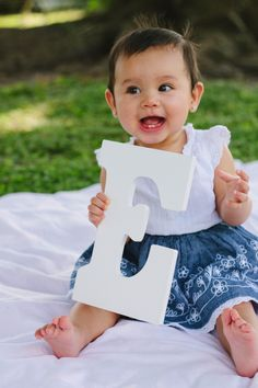 Baby photography- with all letters of baby's name