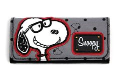 Preppy Snoopy With Glasses Clutch