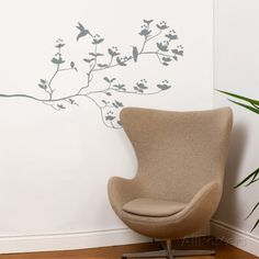 Birds & Buds Wall Decal Wall Decal at AllPosters.com