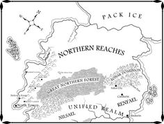 Raven's Shadow :: Anthony Ryan ::  :: The Northern Reaches Map