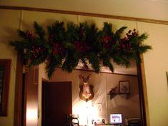 old christmas tree limbs, make new christmas garland