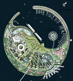 Diller Scofidio + Renfro ganan concurso para una Eco-Isla en China,Otros concursantes: Boston International Design Group. Imagen cortesía de Guallart Architects