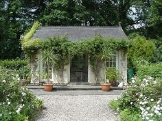 i would love one of these summer houses in the back yard minus the feathered friends