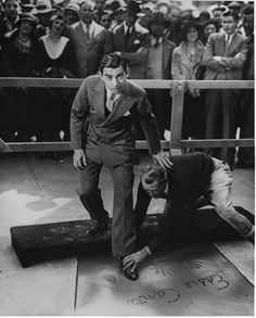 Eddie Cantor's hand and footprint ceremony at Grauman's Chinese Theater