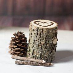Rustic Wedding Pen Holder, Log Pencil Holder-Wedding-Default Title-GFT Woodcraft
