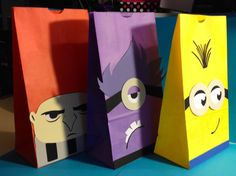 Despicable Me Party Favor Bags by CharminglySassy on Etsy, $36.00