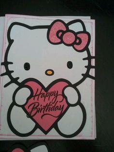 Made using Hello Kitty cricut cart