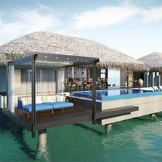 Velaa is a new resort (still in development) in the Maldives, it is a unique combination of indoor and outdoor living spaces.
