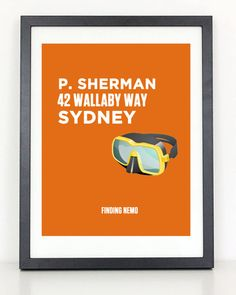 Finding Nemo Minimalist Movie Poster 8.5 x 11 by ColiseumGraphics, $12.00