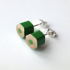 Cheap Thrill: Pencil Stud Earrings