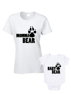 Hey, I found this really awesome Etsy listing at https://www.etsy.com/listing/197915164/momma-bear-baby-bear-t-shirts-or-baby