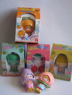 Bandai fruit dolls from the mid New Retro Wave, Retro Waves, Retro Toys, Vintage Toys, Cute Little Things, My Little Pony, Minis, Vinyl Toys, Cute Toys