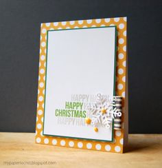 My Paper Secret: Happy Happy Happy Christmas- fun non-traditional colours. Hanukkah Cards, Christmas Hanukkah, Religious Christmas Cards, Candy Cards, Scrapbooking, Happy Birthday Cards, Paper Cards, Greeting Cards Handmade, Cardmaking