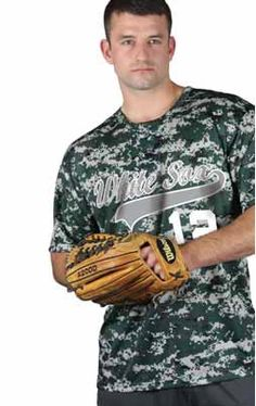 New! Camo Baseball jersey from Badger Sportswear Same day shipping. Shop Awesome-Sports.Com