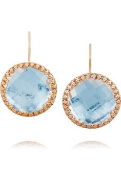 Olivia Button rose gold-dipped topaz earrings #accessories #women #covetme #larkspur&hawk