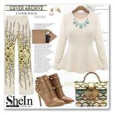 """SheIn.com Contest-Beige Round Neck Ruffle Knit Sweater"" by sherri40 ❤ liked on Polyvore featuring Giambattista Valli, Valentino, Giancarlo Petriglia, Kate Spade, STOW, women's clothing, women's fashion, women, female and woman"