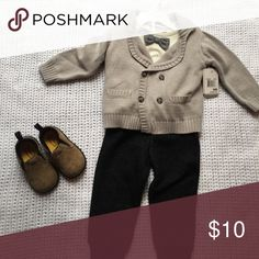 3 piece boy set NWT NWT, 9 month old cute boy outfit. Perfect for nicer occasions or weddings! **shoes not included** Matching Sets