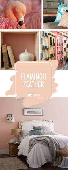 With such a gorgeous light blush hue, it's no wonder that Flamingo Feather is BEHR's Color of the Month. Click here to find inspiring ideas on how you can use this trendy color in your home. Pair with cream and gold accents to create a warm and inviting look with a subtle girly style. Check out the rest of this article to see more.