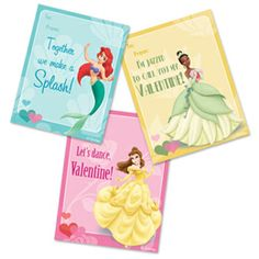 Free Princess Valentine printables to attach to toy for the girls in Madelyn's class