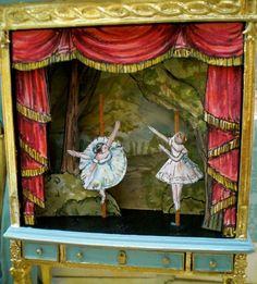 Official website Maritza Miniatures Beautiful Dollhouse Miniatures By Artist Maritza Moran. Toy Theatre, Little Theatre, Paper Art, Paper Crafts, Marionette, 17th Century Art, Up Book, Shadow Puppets, Toy Craft