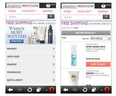 Mobile E-commerce Design Layouts