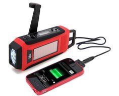 45% off Epica Emergency Solar Hand Crank AM/FM/NOAA Digital Radio, Flashlight, Cell Phone Charger - Deal Alert