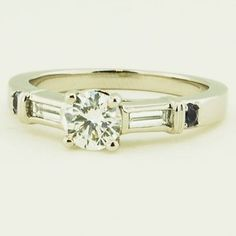 Platinum Rialto Diamond Ring (1/5 CT. TW.) - Set with a 0.48 Carat, Round, Ideal Cut, H Color, VS2 Clarity Diamond #BrilliantEarth