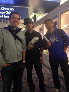 """Matt and Drew had an interesting encounter on their way to cover the Breeder's Cup in LA. They met musician Marilyn Manson in the Las Vegas airport and he ended up sitting with them on their flight to Burbank, California. As Matt said, """"Oddest flight in history."""""""