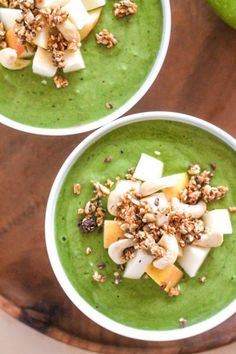 Apple Cinnamon Crunch Smoothie Bowl by Eat Spin Run Repeat