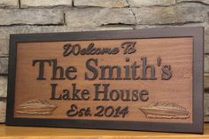 Personalized Lake House Sign Family Name by SmokyMountainSigns, $79.99