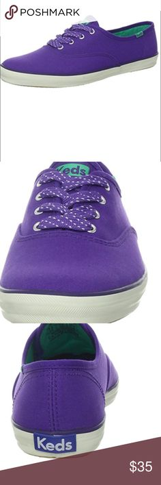 KEDS Purple Shoes-Sneaker CHAMPION OXFORD Stylish KEDS Purple Shoes-Sneaker Champion Oxford. Outer Material Canvas, Inner Material: Cotton, Sole: Gum Rubber. New with tags. Keds Shoes Sneakers