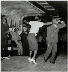 Swing dancing in the 1940's
