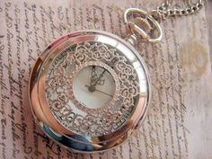 A beautiful pocket watch.