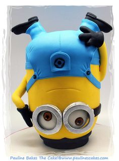 Breakdancing Jerry Minion! - by paulinescakes @ CakesDecor.com - cake decorating website