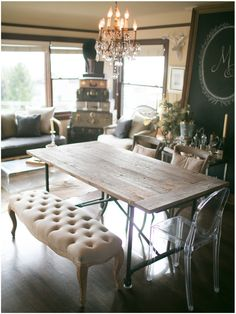 anthropologie - hmm. This table looks familiar. I got mine at restoration hardware.