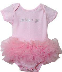 Girls Baby Posh Daddy's Girl/Mommy's Girl Tutu Onesie Fluff