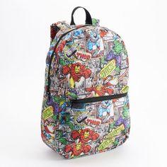 Marvel Comic Heroes Print Backpack
