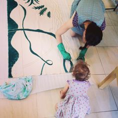 Painting a shadow puppet screen for my first market stall Natural Dye Fabric, Market Stalls, Shadow Puppets, Kids Rugs, Marketing, Create, Painting, Instagram, Kid Friendly Rugs
