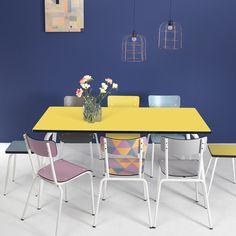 Table à manger en formica 160x80 Vera Les Gambettes - Citron