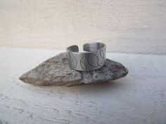 Large swirl design silver aluminum cuff ring free by Amayeli, $10.00