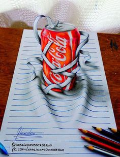 On the Creative Market Blog - This Self-Taught Teenager Draws Mind-Bending 3D Art With Regular Pencils #3ddrawings