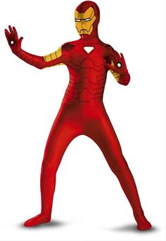 Iron Man Child's Licensed Skin Suit Costume - This is a licensed child's zentai suit of Iron Man. This suit covers the hands, feet and head. It is a stretchy and breathable suit that conforms to the wearer's body. It has Iron Man's suit design printed on. The suit opens up at the back with zippers. Wear this for Halloween, with other superhero zentai suits or a comic book convention. #ironman #costume #yyc #calgary #superhero #children