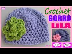 "GORRO Bebé Punto Puff Tutorial Crochet ""LILA"" (Parte 1) Subtitles in English & Deutsch - YouTube"
