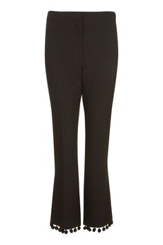 Pom-Pom Kick Flare Trousers
