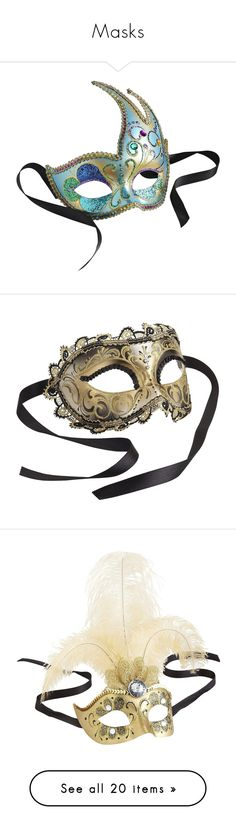 Masks By Emjule Liked On Polyvore Featuring Masks Accessories Jewelry Italian Home Decormasqueradesmaskscostumesglasseshome