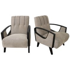 Moderne Lounge Club Chairs | From a unique collection of antique and modern lounge chairs at https://www.1stdibs.com/furniture/seating/lounge-chairs/