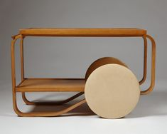 Tea trolley, model designed by Alvar Aalto for Artek, — Modernity Tea Trolley, Drinks Trolley, Tea Cart, Shelf Furniture, Table Furniture, Furniture Design, Housewarming Decorations, House Games, Sideboard Cabinet